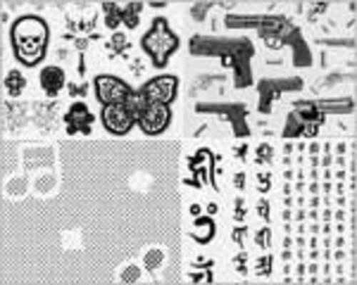 デリーター スクリーン <ベタ・羽根・文字・モザイク>