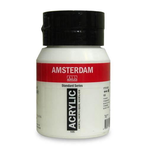 アムステルダム アクリリックカラー 500ml(白・黒)