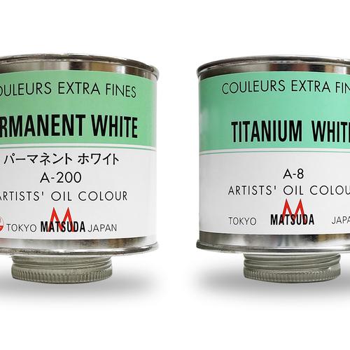 マツダ 専門家用油絵具(ホワイト)330ml缶