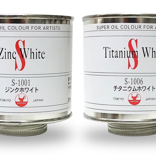 マツダ スーパー油絵具(ホワイト)330ml缶