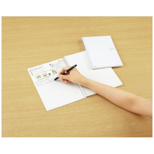 コクヨ ソフトリングノート(無地・カットオフ)