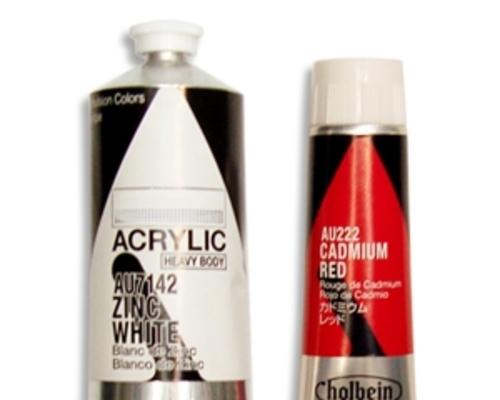 ホルベイン アクリリック150ml(白・黒)