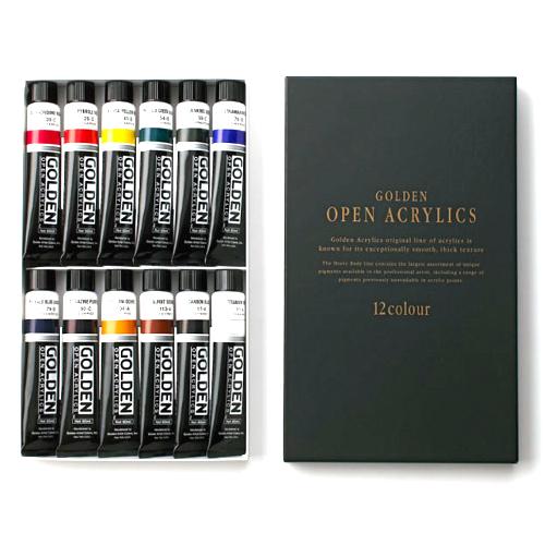 ゴールデン【オープン】アクリリックス12色セット(60ml)