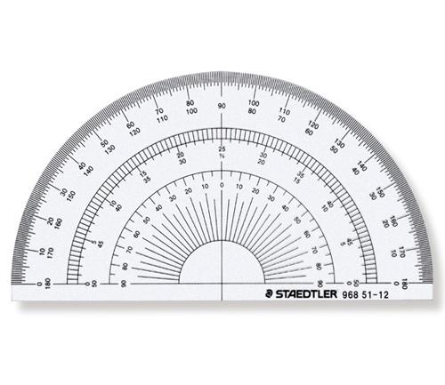 ステッドラー 半円分度器12cm